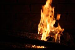 Brandende Login Hete Brand en Vlammen Royalty-vrije Stock Fotografie