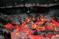 Brandende Login Hete Brand en Vlammen Royalty-vrije Stock Afbeeldingen