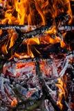 Brandende open haard Royalty-vrije Stock Afbeelding