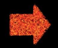 Brandende Pijl Stock Afbeelding