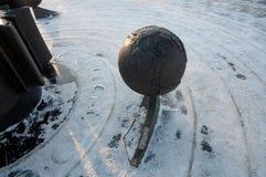 Brandende planeet sneeuw Stock Afbeelding