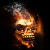 Brandende Schedel Stock Afbeelding