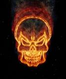 Brandende schedel Royalty-vrije Stock Fotografie