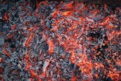Brandende steenkool Royalty-vrije Stock Fotografie