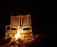 Brandende stoelen Royalty-vrije Stock Foto's