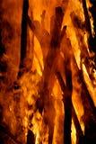 Brandende stokken stock foto's