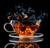 Brandende thee Royalty-vrije Stock Afbeeldingen