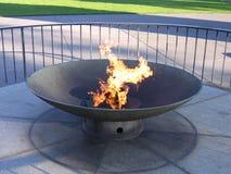 Brandende toorts in park, Melbourne royalty-vrije stock afbeeldingen