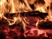 Brandende vlam stock fotografie