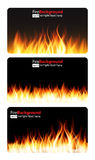 Brandende Vlam van Brandbanner Vector illustratie Royalty-vrije Stock Foto's
