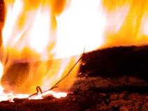 Brandende vlammen stock afbeelding