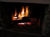 Brandende vlammen 1 Royalty-vrije Stock Foto's