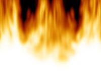 Brandende vlammen Royalty-vrije Stock Afbeelding
