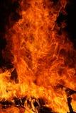 Brandende vlammen Royalty-vrije Stock Afbeeldingen