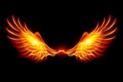 Brandende Vleugels Royalty-vrije Stock Afbeelding