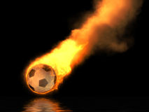 Brandende voetbalbal Royalty-vrije Stock Fotografie