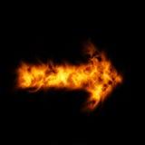 Brandende wijzer Stock Afbeeldingen