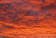 Brandende Wolken Royalty-vrije Stock Afbeeldingen