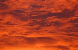Brandende Wolken Royalty-vrije Stock Foto