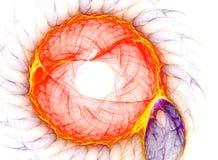 Brandende Zon - Fractal Art. vector illustratie