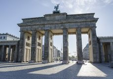 Branderburg port, Berlin germany arkivfoton