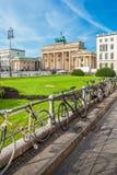 Branderburg port - Berlin, Tyskland Arkivfoto