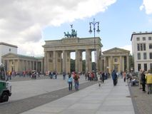 Branderburgpoort in Berlijn royalty-vrije stock foto's