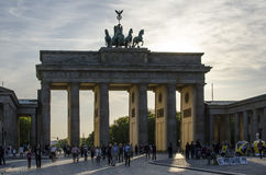 Branderburgpoort, Berlijn duitsland stock foto's