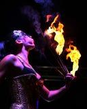 Brandeter en danser Stock Fotografie