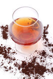 Brandewijn en coffe Stock Foto's