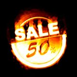 brandförsäljning 50% Fotografering för Bildbyråer