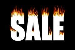 brandförsäljning stock illustrationer