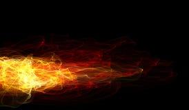 Brandflamma på svart bakgrund Arkivfoton