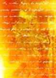 Brandflammabakgrund med vit skrifthandstil Arkivfoton