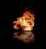 brandflammor Arkivbilder