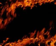 brandflammor Arkivfoton