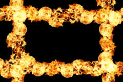 Brandflammor på black stock illustrationer