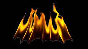Brandflammor på en svart bakgrund Vektor Illustrationer