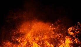 Brandflammor texturerar på isolerad svart bakgrund Perfekta textursamkopieringar för kopieringsutrymme stock illustrationer