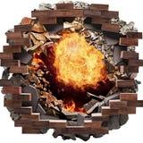 Brandgat stock illustratie