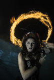 Brandglorie boven meermin Royalty-vrije Stock Foto's