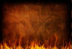 brandgrunge Royaltyfri Fotografi