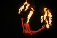 Brandgudinna Fotografering för Bildbyråer