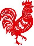 brandhahn Symbol des chinesischen Jahrtierkreises Lizenzfreies Stockbild