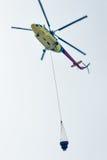 Brandhelikopter mi-8 Royalty-vrije Stock Fotografie