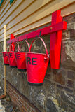 Brandhinkar på signalasken, Instow, Devon Royaltyfri Foto