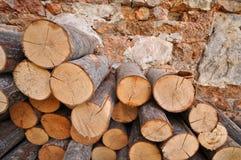 brandhout royalty-vrije stock afbeelding