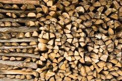 Brandhout Stock Afbeelding