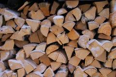 Brandhout, brandstof, logboeken, het landelijke leven stock foto
