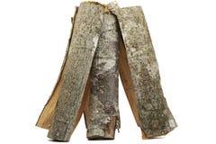 Brandhout dat voor vuur wordt gestapeld Stock Fotografie